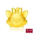 周大福 TSUM TSUM系列 瑪莉貓造型黃金路路通串飾/串珠