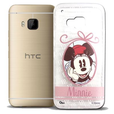 迪士尼 HTC ONE M9 徽章系列透明彩繪手機殼