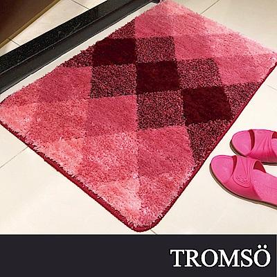 TROMSO凱薩頂級厚絨毛吸水大地墊-M508嫣紅菱格