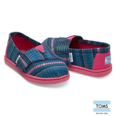 TOMS 部落編織懶人鞋-幼童款