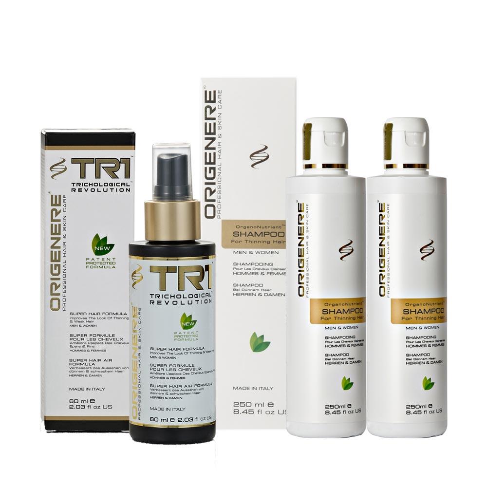 Origenere歐麗淨 SR鋸棕櫚養髮洗髮精250ml*2+超級養髮液TR1-60ml