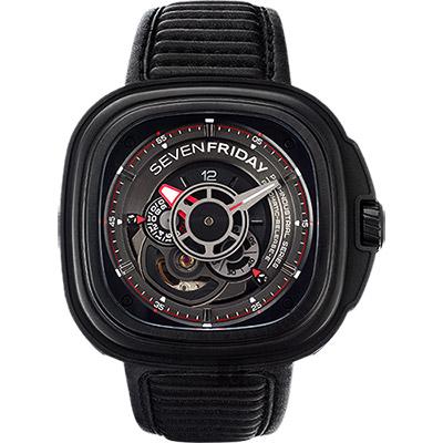 SEVENFRIDAY P3-B 解構世界自動上鍊機械錶-黑/47mm