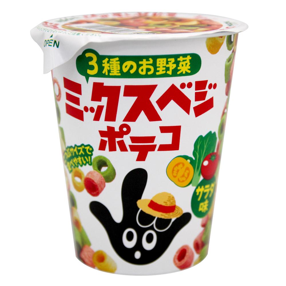 東鳩 手指圈圈餅杯裝-沙拉口味(54gx3杯)