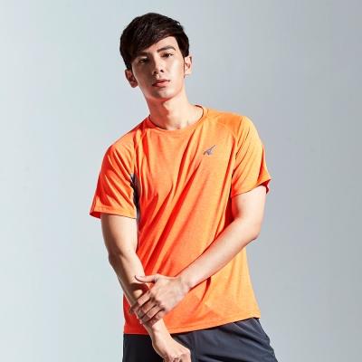 【AIRWALK】雙色排汗圓領T恤-橘