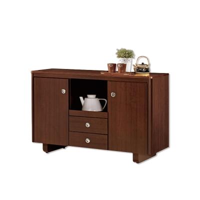 Bernice-泰德4尺碗盤收納餐櫃-121x46x81cm
