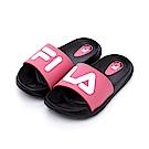 FILA KIDS 中童MD運動拖鞋-黑桃2-S431S-021
