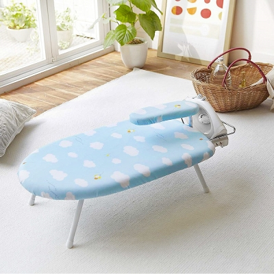 YAMAZAKI圓弧桌上型燙衣板-雲朵+小燙馬
