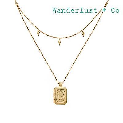 Wanderlust+Co 澳洲時尚品牌 ZALEA宇宙潘朵拉項鍊 金色