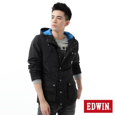 EDWIN-外套-多口袋舖棉防寒外套-男-黑色