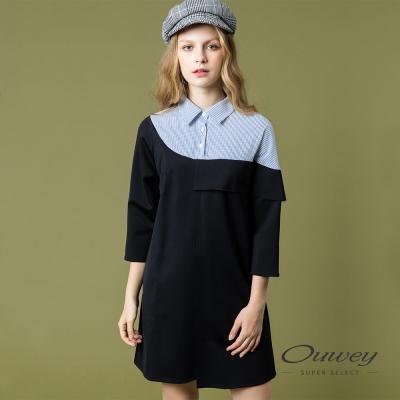 OUWEY歐薇 時尚簡約率性洋裝(黑)