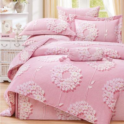 Saint Rose 花蔓舞-粉 加大100%純天絲兩用被套床包四件組
