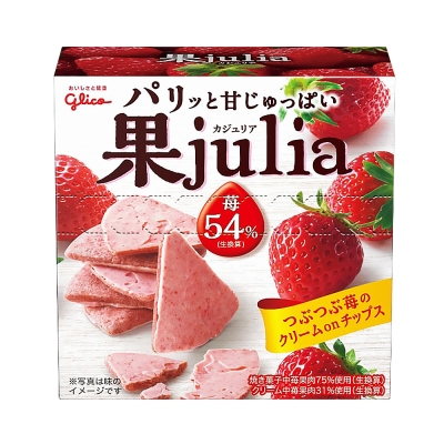 (即期品)Glico格力高 果實餅乾草莓巧克力(42g)