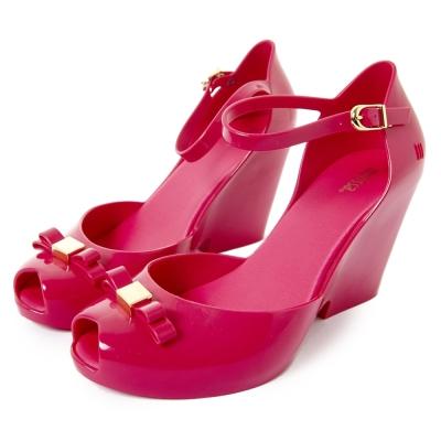MELISSA-蝴蝶結美學高跟鞋-桃紅