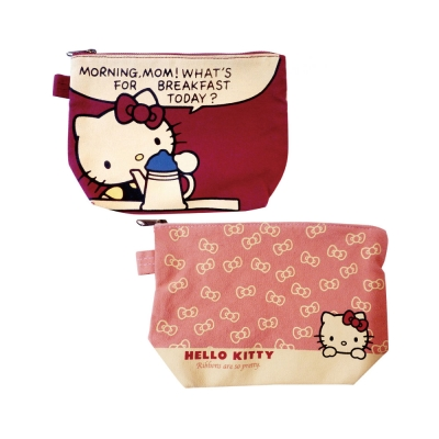 Sanrio HELLO KITTY帆布化妝包