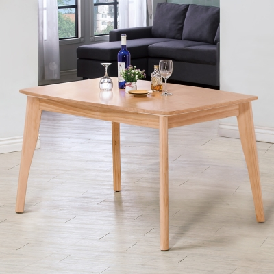 Homelike 佐藤4.3尺餐桌-原木色-130x80x75cm