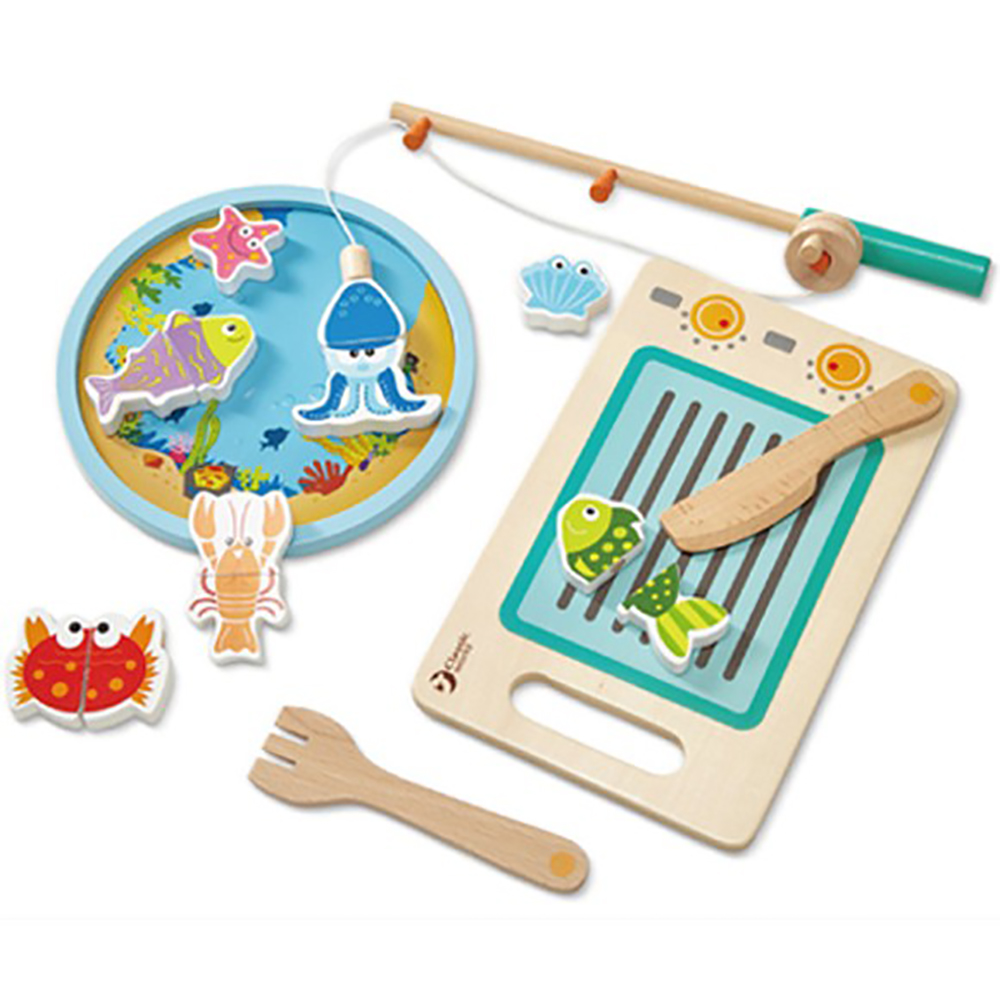 Classic World 德國經典木玩磁性釣魚切切樂