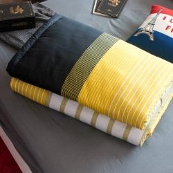 OLIVIA  諾爾曼 黃黑 5X6尺夏季涼被 台灣生產製造