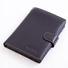 ABS愛貝斯 - 護照夾 直式真皮2活頁8卡雙層鈔票層拉鍊隔層7070-026 - 黑色