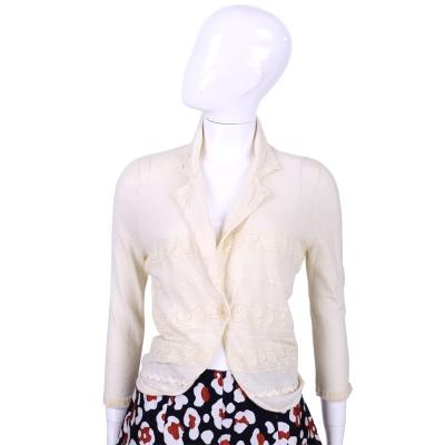 ANNA MOLINAR 米色蕾絲拼接設計小外套(展示品)
