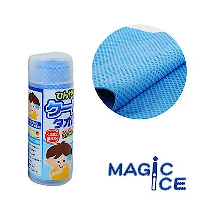 Magic Ice 舒爽沁涼冰巾/冰涼巾_小(淺藍)_3入組