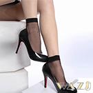 Wazi-素面透膚水晶短絲襪 (1組三入)