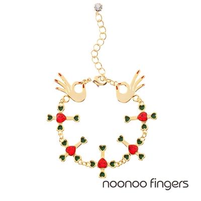 Noonoo Fingers Cross Line Bracelet 十字架線 手鍊
