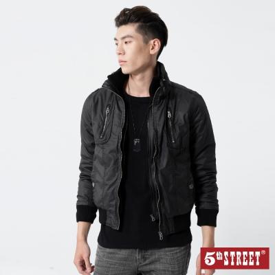 5th STREET 雙層門襟舖棉外套-男-黑色