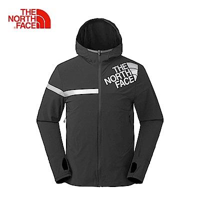 The North Face北面男款黑色防潑水運動輕量風衣