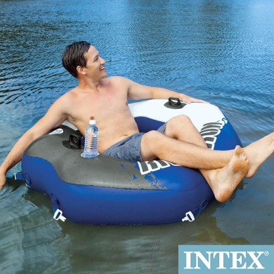 INTEX 可連接式水上充氣沙發椅RIVER RUN漂流躺椅 (58854)