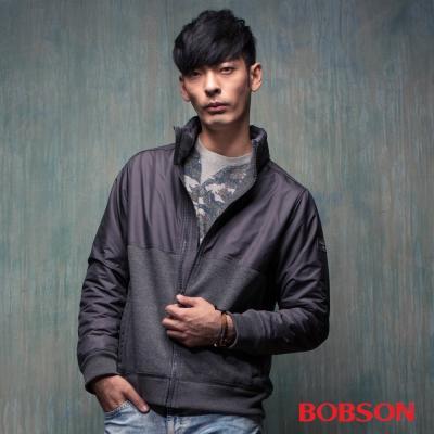 BOBSON  男款雙拼色刷毛外套