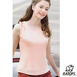 【瑞多仕-RATOPS】女款 圓領無袖排汗背心_DB7110 淺桔色 V