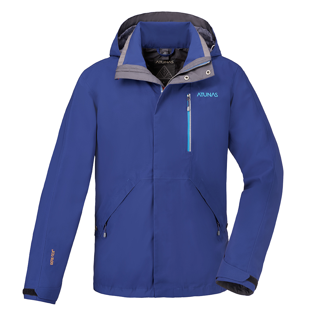 【ATUNAS 歐都納】男款防水透氣GORE-TEX風衣外套A-G1717M寶藍