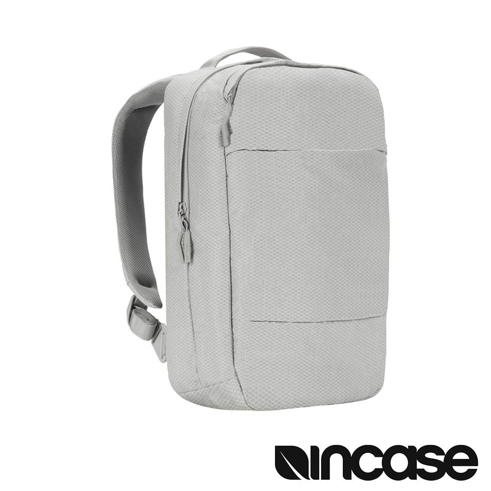 INCASE City 格紋耐磨城市輕巧後背包(鑽石銀/15吋內筆電適用)