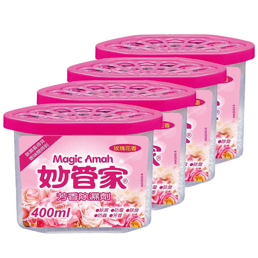 妙管家-芳香除濕劑(玫瑰花香)400ml*4