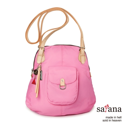 satana -929 Ladies 簡約時尚肩背/後背包-凡爾賽玫瑰