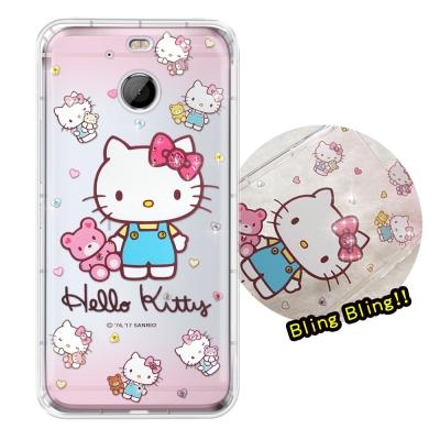 正版凱蒂貓 HTC 10 EVO 5.5 吋 夢幻童話 彩鑽氣墊手機殼(愛戀小熊...
