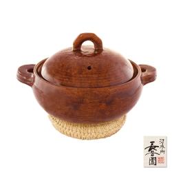 日本長谷園伊賀燒 多用途女子陶鍋(咖啡)