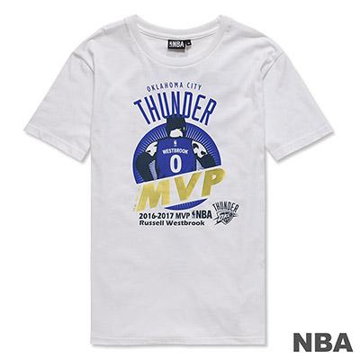 NBA-Russell Westbrook年度MVP紀念短T-白 (男)