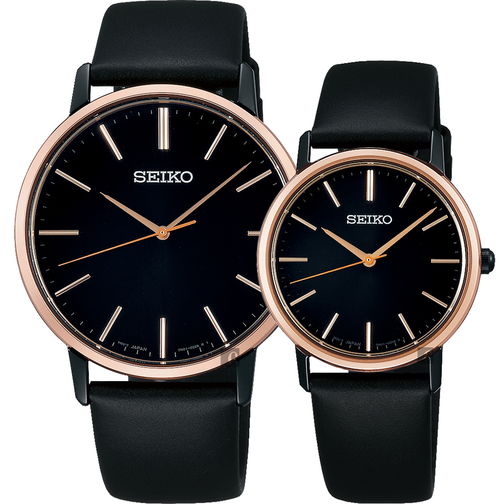 SEIKO精工 SRIPIT 城市對錶(SCXP078J+SCXP088J)