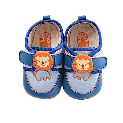 可愛獅魔鬼貼止滑寶寶鞋 藍 sk0286 魔法Baby