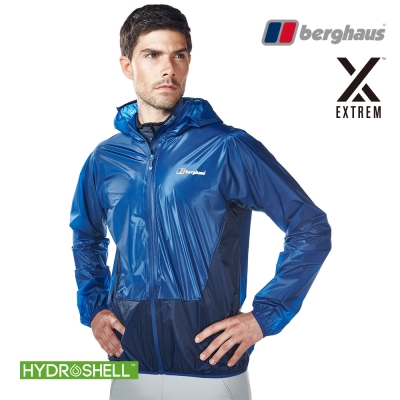 【Berghaus貝豪斯】男款超輕薄HydrShell防水透氣外套S02M06潛水藍