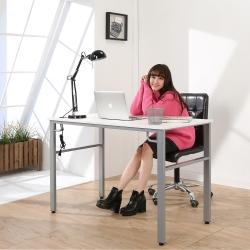 BuyJM 仿馬鞍皮環保低甲醛穩重型工作桌-寬120公分