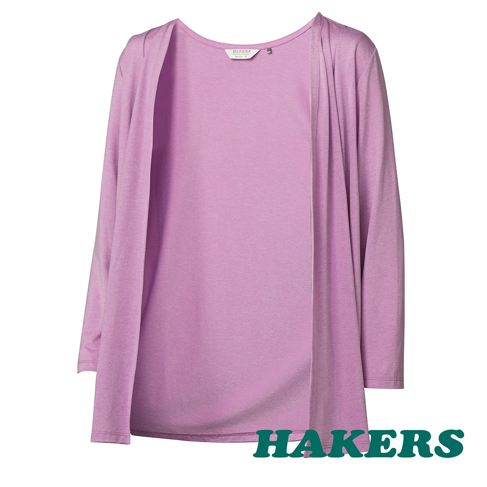 【HAKERS 哈克士】女-涼感抗菌小罩衫-紫色 product image 1