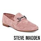 STEVE MADDEN-KERIN 麂皮馬銜扣樂福鞋-粉色