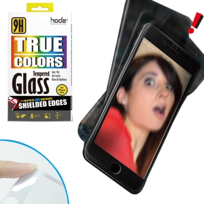 hoda IPHONE 7 PLUS 3D 滿版PET防碎軟邊鋼化玻璃貼