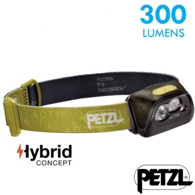 【法國 Petzl】新款 ACTIK 超輕量高亮度頭燈(300流明)_綠