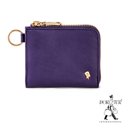 PORTER-輕甜繽紛SPIRIT多功能L型零錢包-紫