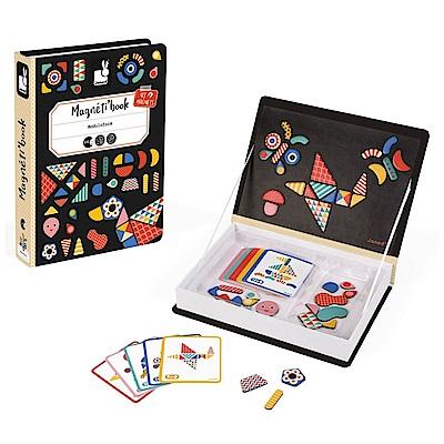 法國Janod 磁鐵遊戲書 - 幾何創意拼