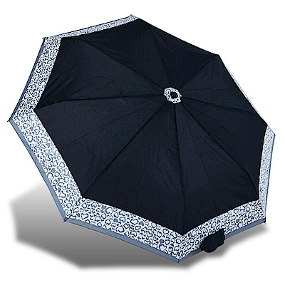 RAINSTORY漾黑LOVE抗UV隨身自動傘