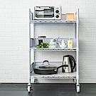dayneeds廚房推車收納架60X45X90cm(含圍籬組+透白PP板+工業輪)